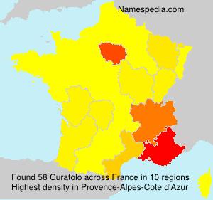 Familiennamen Curatolo - France