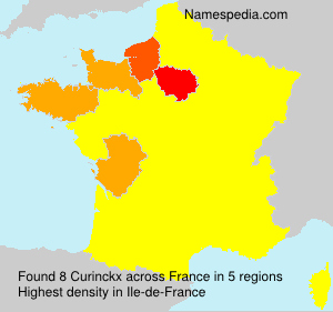 Surname Curinckx in France