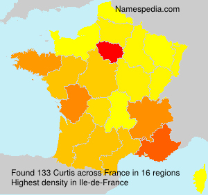 Surname Curtis in France