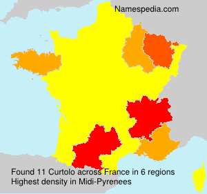 Surname Curtolo in France