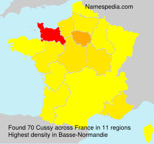 Surname Cussy in France
