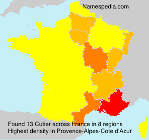 Surname Cutier in France