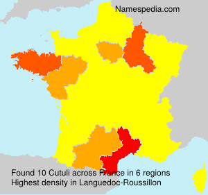 Surname Cutuli in France