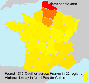 Surname Cuvillier in France