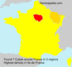 Surname Cybak in France