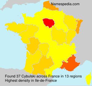Familiennamen Cybulski - France