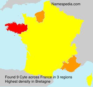Familiennamen Cyte - France