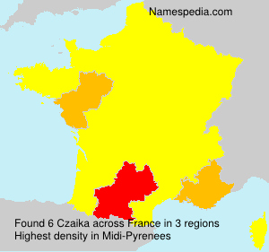 Surname Czaika in France