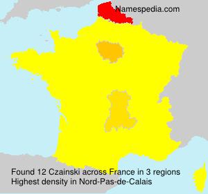 Surname Czainski in France