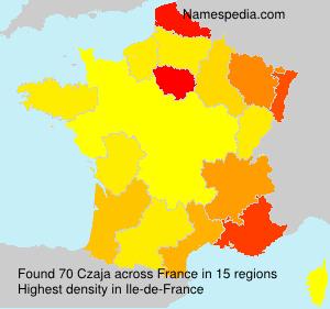 Surname Czaja in France