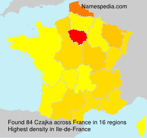 Surname Czajka in France