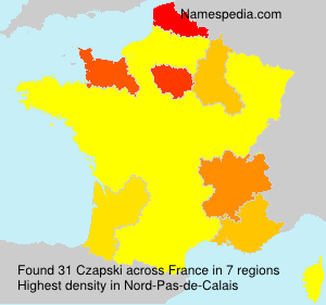 Surname Czapski in France