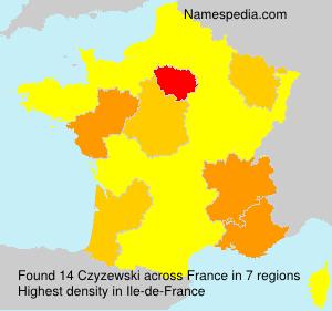 Surname Czyzewski in France