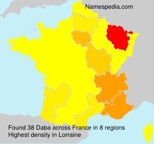 Familiennamen Daba - France