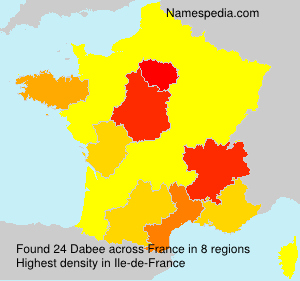 Surname Dabee in France
