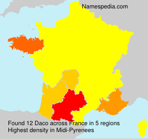 Surname Daco in France