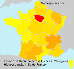 Surname Dacunha in France
