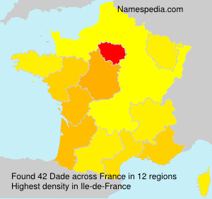 Surname Dade in France