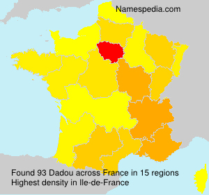 Surname Dadou in France