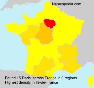 Surname Dadsi in France