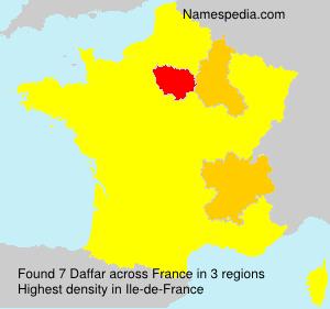 Familiennamen Daffar - France