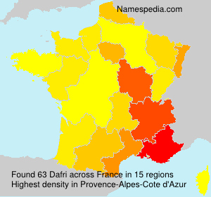 Surname Dafri in France