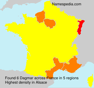 Surname Dagmar in France