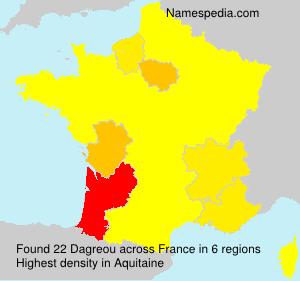 Surname Dagreou in France
