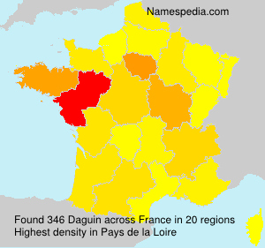 Surname Daguin in France