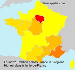 Surname Dahhan in France