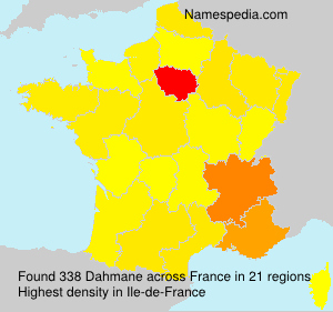 Surname Dahmane in France