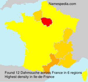 Surname Dahmouche in France