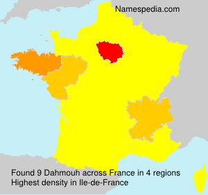 Familiennamen Dahmouh - France