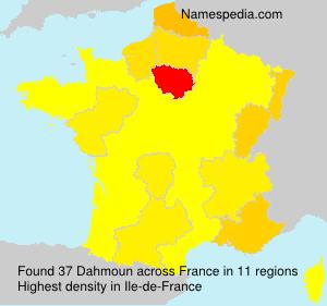 Familiennamen Dahmoun - France