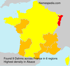 Surname Dahms in France