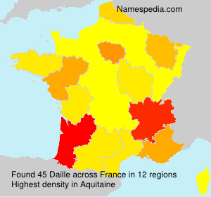 Surname Daille in France