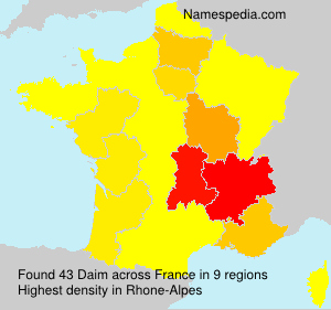 Surname Daim in France