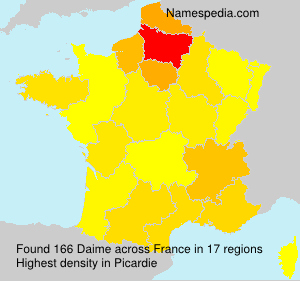 Surname Daime in France