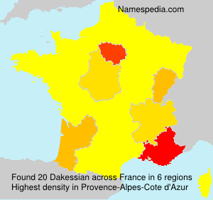 Surname Dakessian in France
