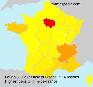 Surname Dakhli in France