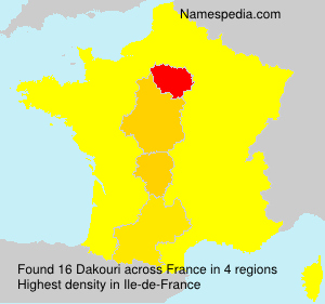 Surname Dakouri in France