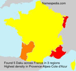 Familiennamen Daku - France