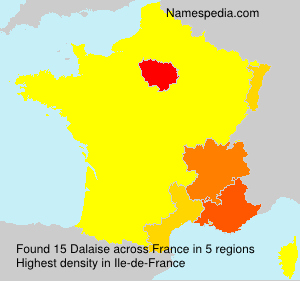 Surname Dalaise in France