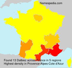 Surname Dalbiez in France