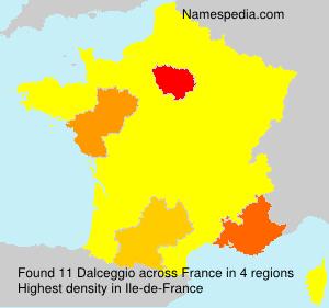 Familiennamen Dalceggio - France