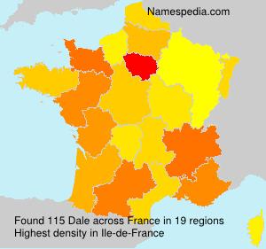 Surname Dale in France