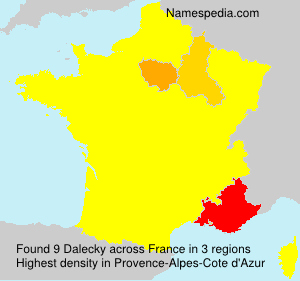 Surname Dalecky in France