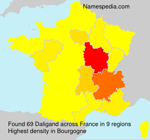 Surname Daligand in France