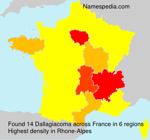 Surname Dallagiacoma in France