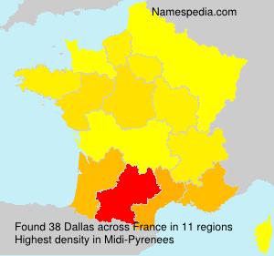 Surname Dallas in France